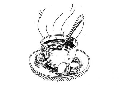 Tasse illustration | Tiphaine Boilet illustratrice Nantes illustration vectorielle dessin au trait