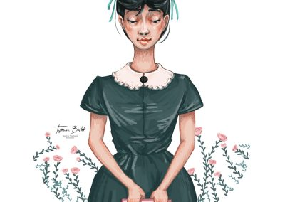 Sagesse illustration jeune fille illustration digital | Tiphaine Boilet illustratrice nantaise freelance