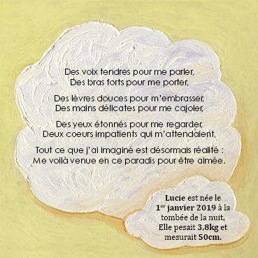 carte et faire part naissance fille | Tiphaine Boilet illustratrice graphiste Nantes freelance
