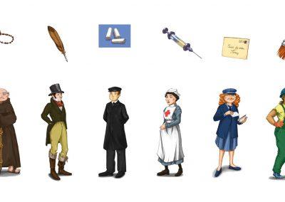 Character design objet illustration | Tiphaine Boilet illustratrice Nantes freelance