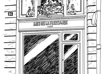 Illustration architecture | Tiphaine Boilet illustratrice Nantes dessin au trait illustration vectorielle