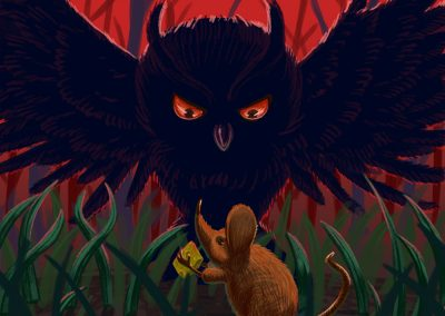 Souris et hibou illustration | Tiphaine Boilet illustrateur france freelance