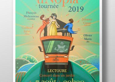 Illustration communication affiche concert ambulant | Tiphaine Boilet illustrateur Nantes freelance