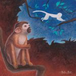 Niko dort | Tiphaine Boilet illustratrice freelance illustratrice pour enfant petit singe illustration