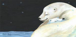 ours livre jeunesse calin illustration | Tiphaine Boilet illustratrice Nantaise illustration ours polaire