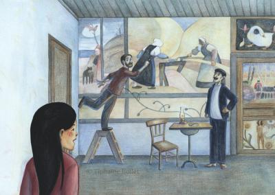 Paul Gauguin livre documentaire | Tiphaine Boilet illustratrice française