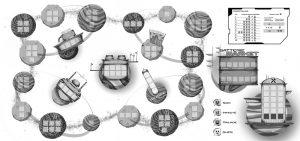 Illustration jeu de plateau Codroïd-19 | Tiphaine Boilet illustratrice Nantes freelance