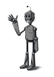 illustration robot codroid-19 | Tiphaine Boilet illustrateur freelance Nantes