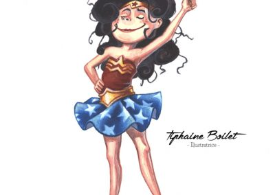 Wonder Woman petite fille | Tiphaine Boilet illustratrice nantaise illustration fan art wonder woman