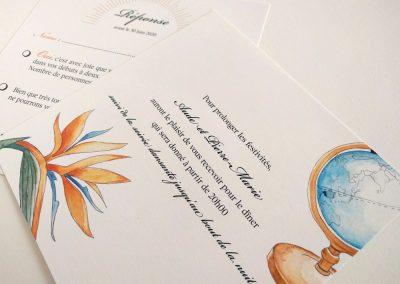 faire part mariage illustré | Tiphaine Boilet illustration événement illustratrice freelance nantes