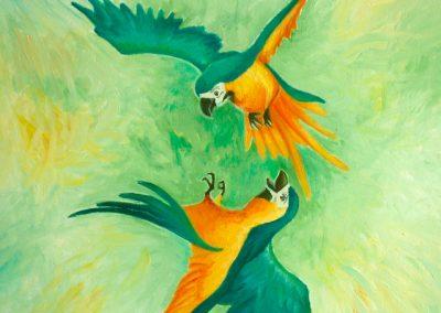 Perroquets | Tiphaine Boilet illustratrice Nantes perroquet illustration