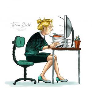 femme travail illustration communication | Tiphaine Boilet illustratrice Nantes freelance
