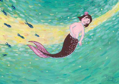 Sirène | Tiphaine Boilet illustrateur Nantes freelance illustration jeunesse illustration la petite sirène