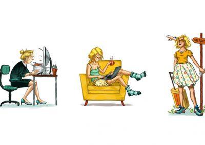 business woman femme d'affaire illustration | Tiphaine Boilet illustratrice française