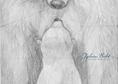 Orion croquis album jeunesse Tiphaine Boilet illustration ours Nantes