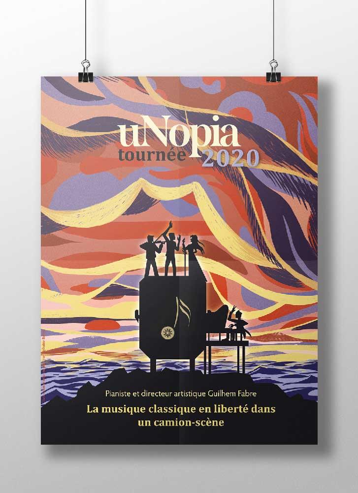 affiche illustration unopia 2020 concert Tiphaine Boilet illustrateur Nantes