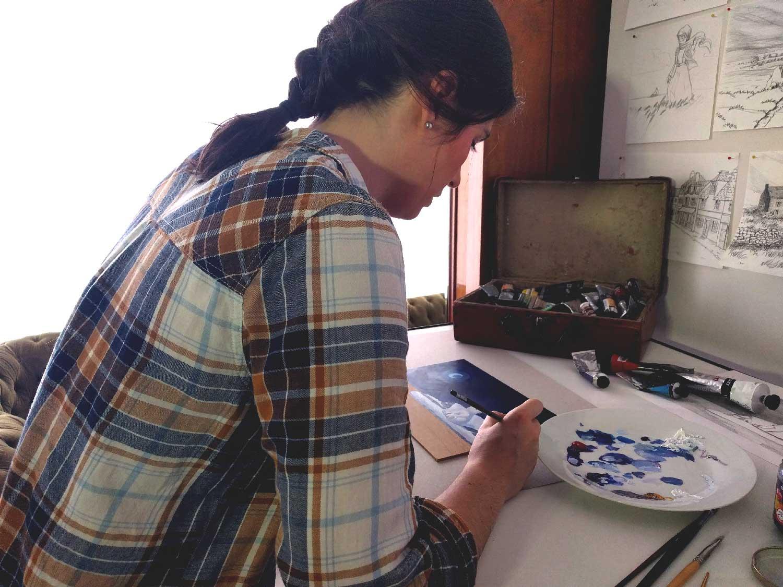 atelier artiste Nantes illustratrice peintre Tiphaine Boilet illustratrice graphiste Nantes