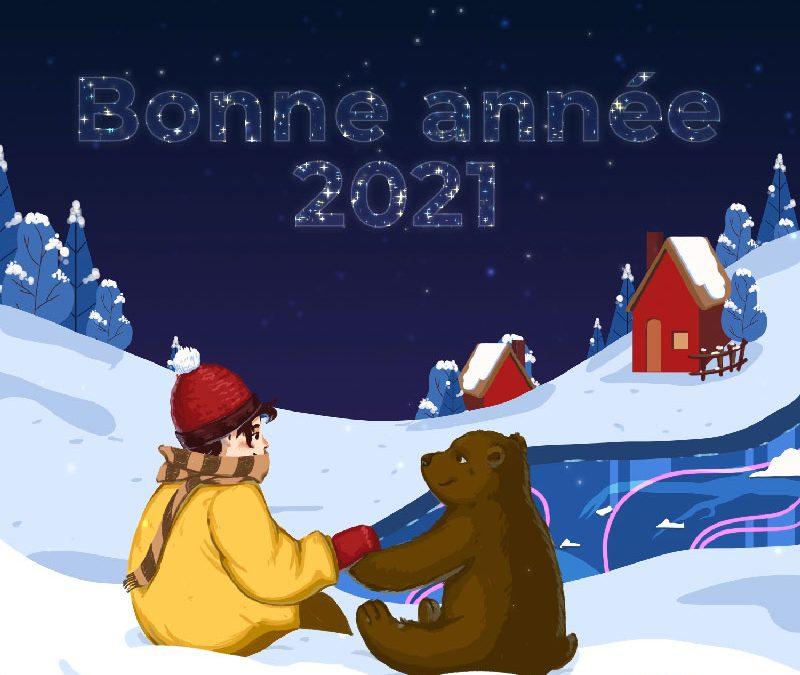 Bonne année 2021 Tiphaine Boilet illustrateur motion designer freelance Nantes