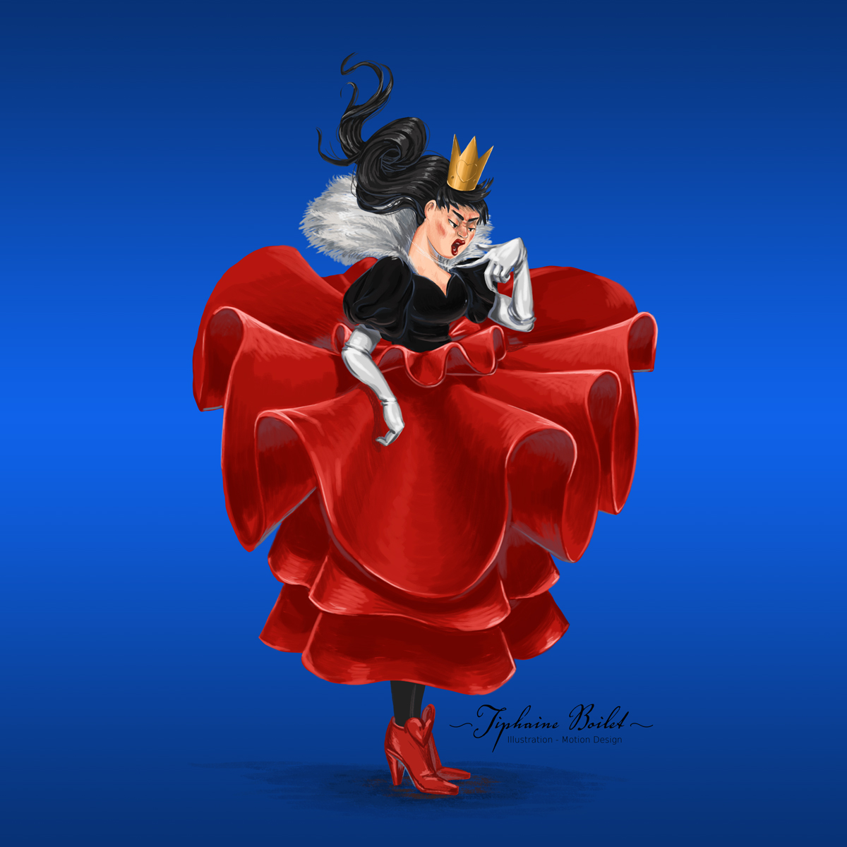illustration digitale Tiphaine Boilet illustratrice freelance Nantes Alice au pays des merveilles illustration