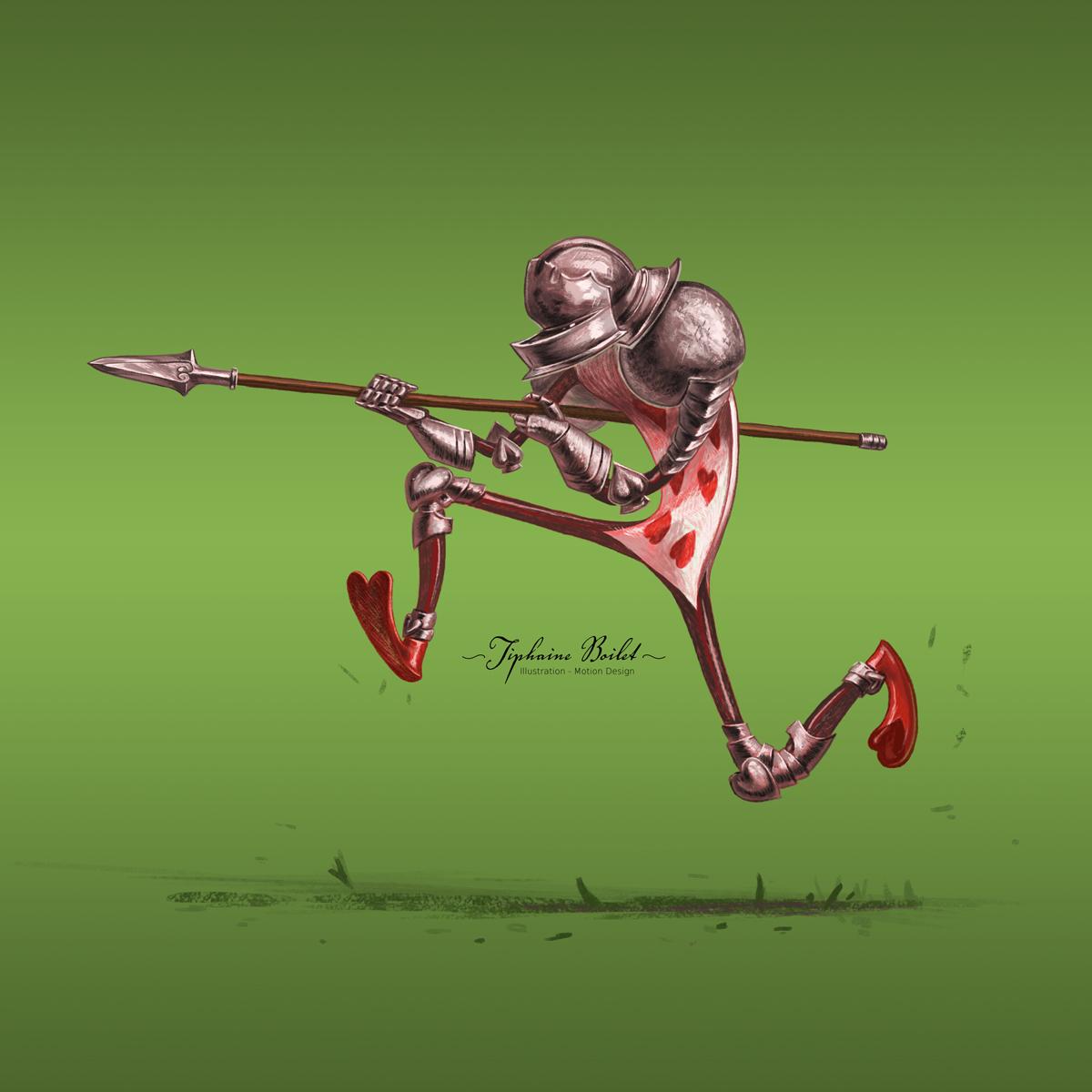 Character design challenge illustration digitale Tiphaine Boilet illustratrice freelance Nantes Alice au pays des merveilles illustration