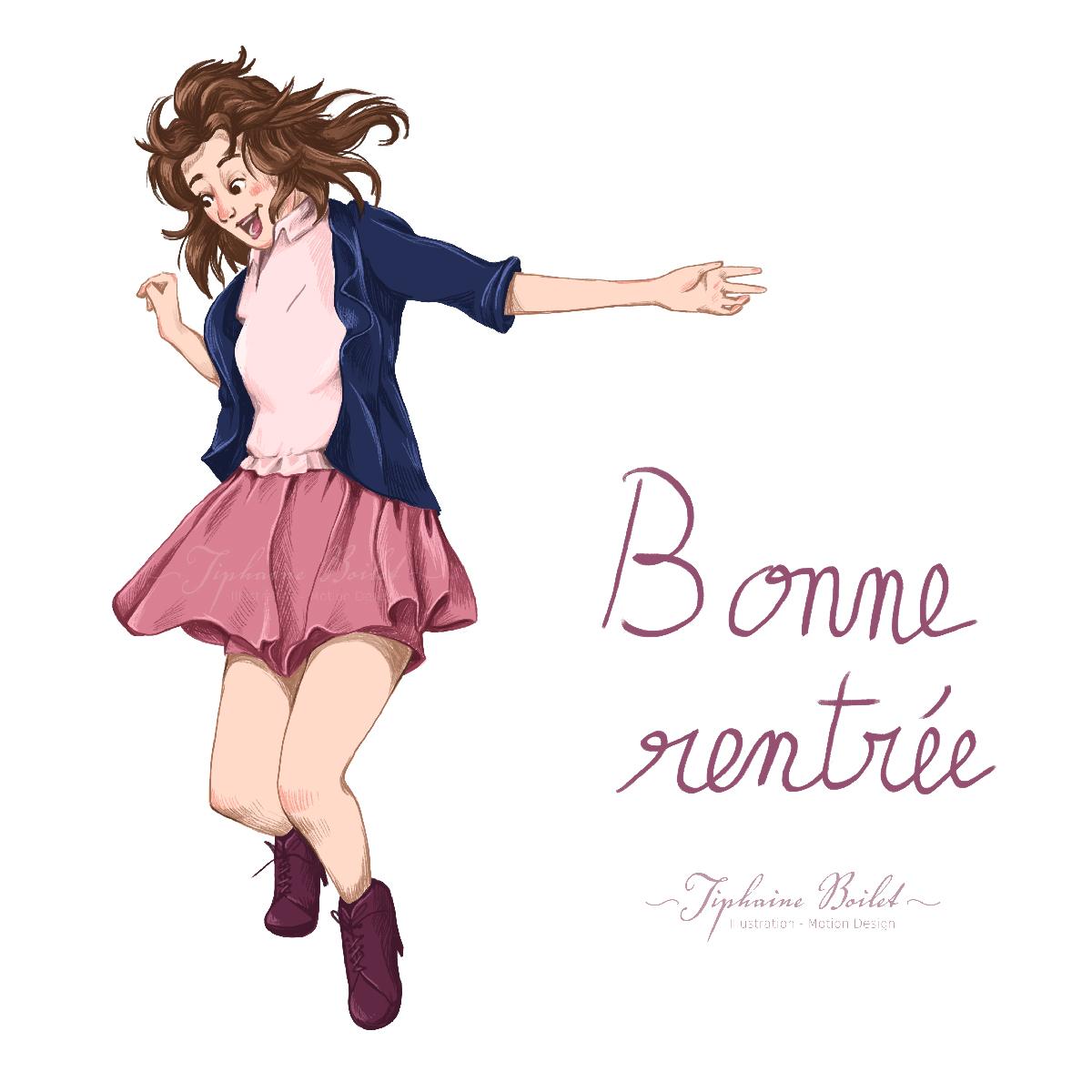 bonne rentrée 2021 Tiphaine Boilet illustrateur freelance Nantes
