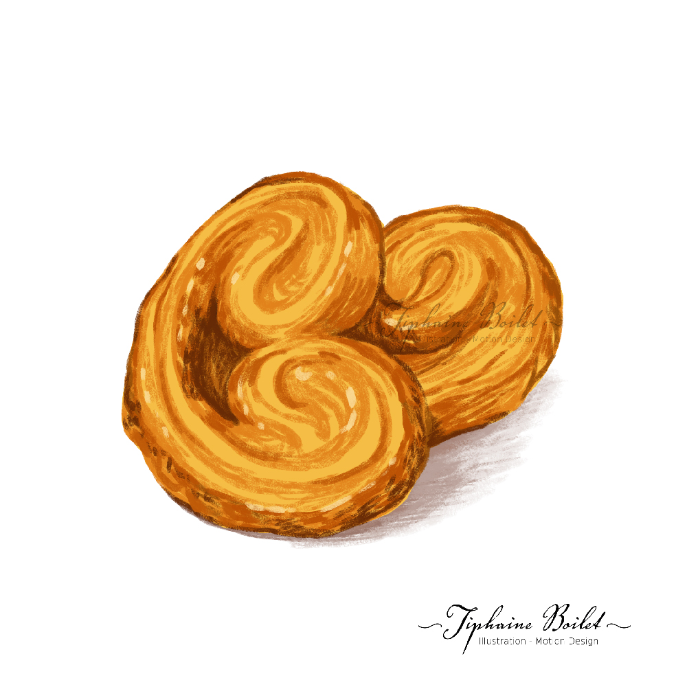 dessin de pâtisserie illustration gâteau palmier Tiphaine Boilet illustrateur Nantes