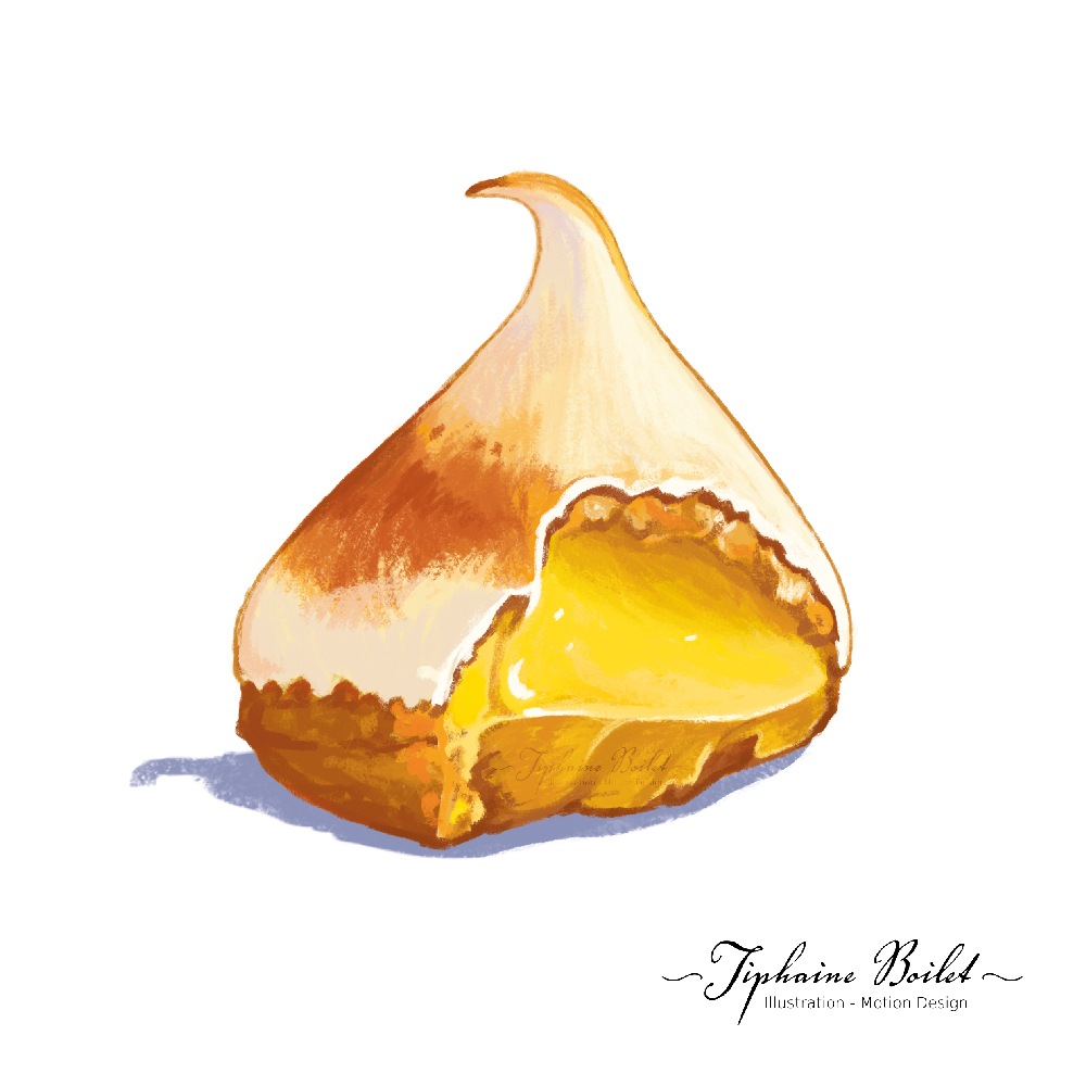 dessin de pâtisserie illustration gâteau illustration tarte citron Tiphaine Boilet illustrateur Nantes