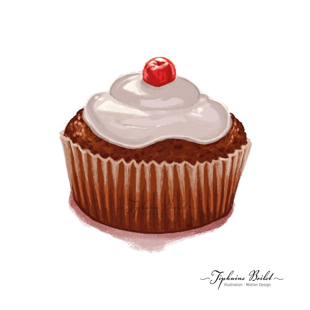 dessin de pâtisserie illustration gâteau chocolat Tiphaine Boilet illustrateur Nantes